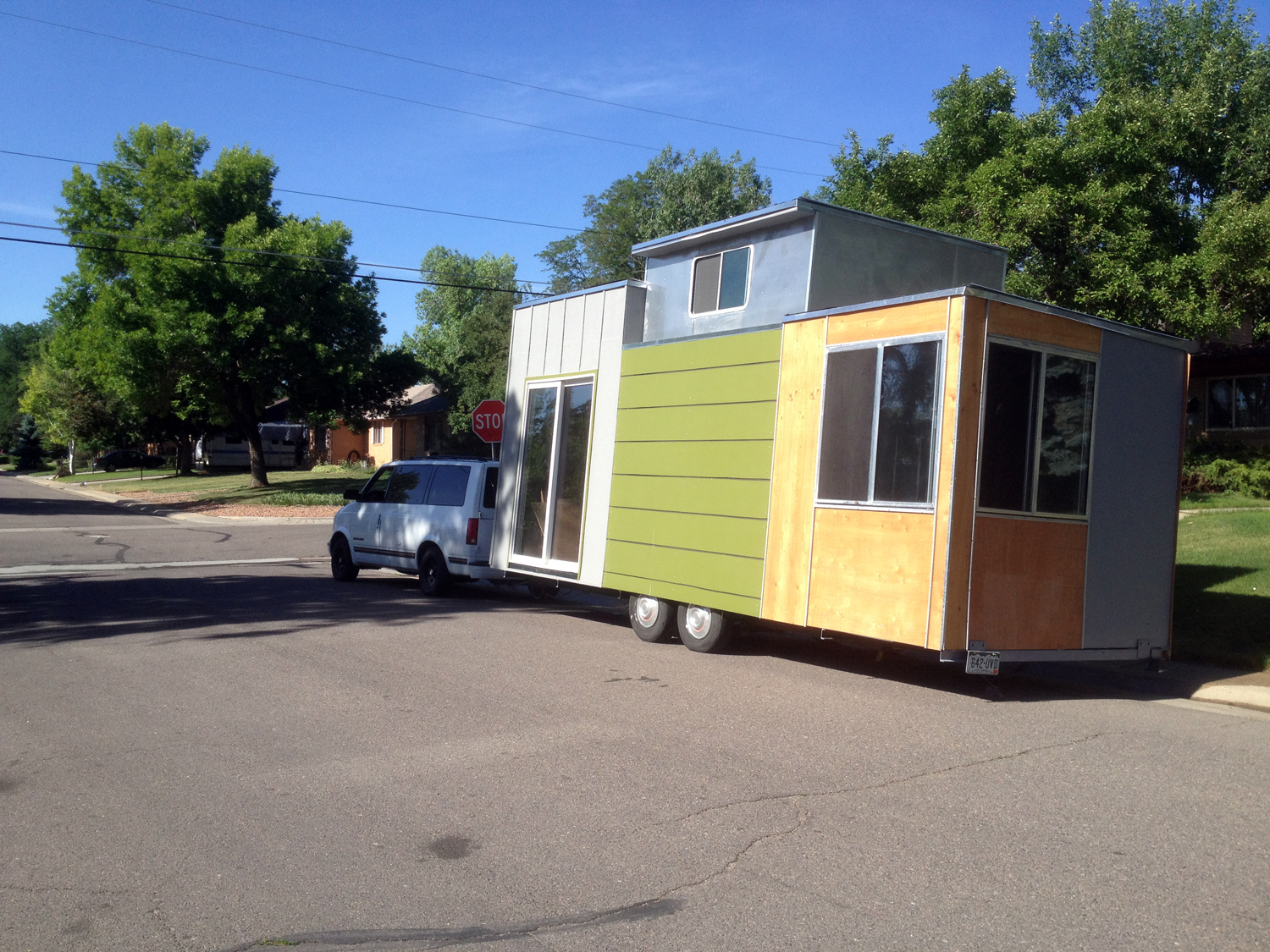 The adventure of turning an old camper into a tiny house on wheels