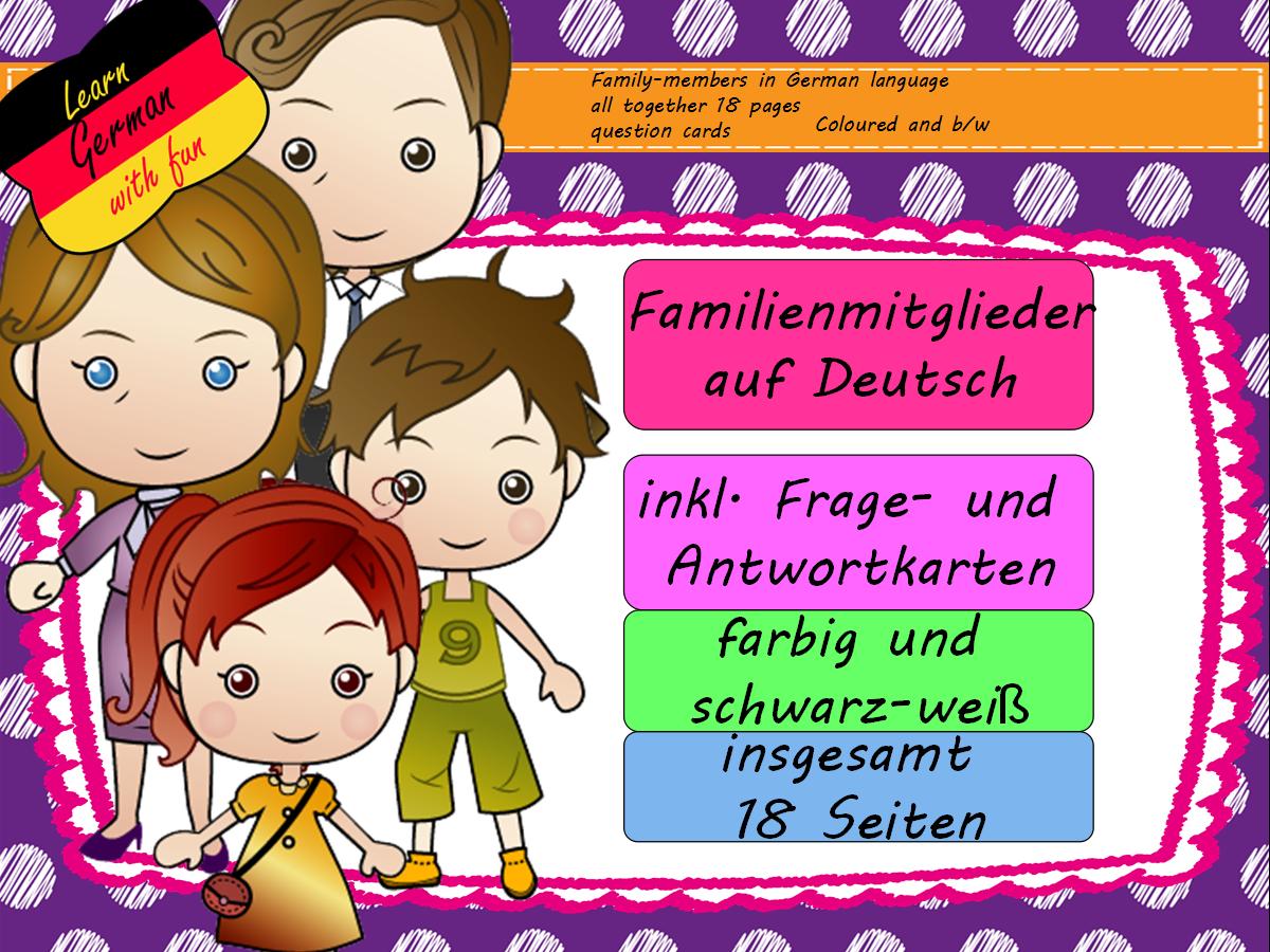 Familienmitglieder auf Deutsch