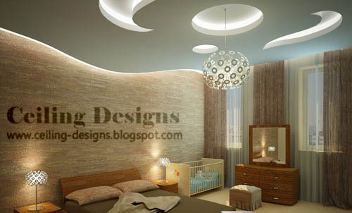 Fall Ceiling Designs For Bedrooms From Plaster Of Paris With