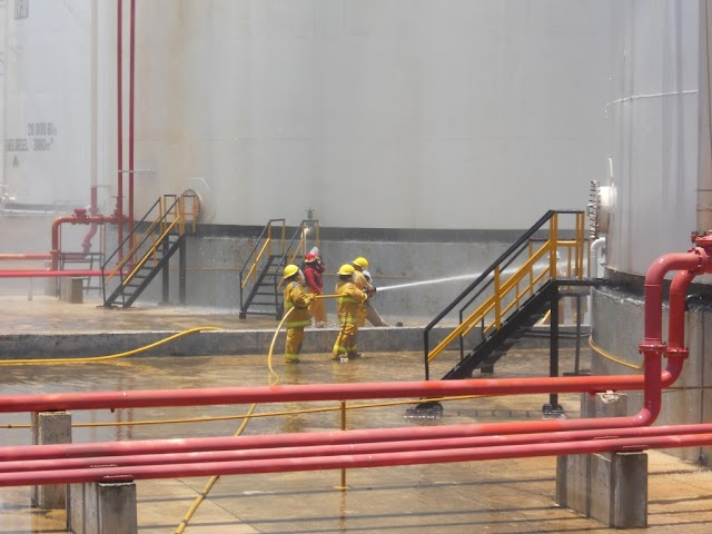Realiza la TAR Mérida de Pemex simulacro contra incendio