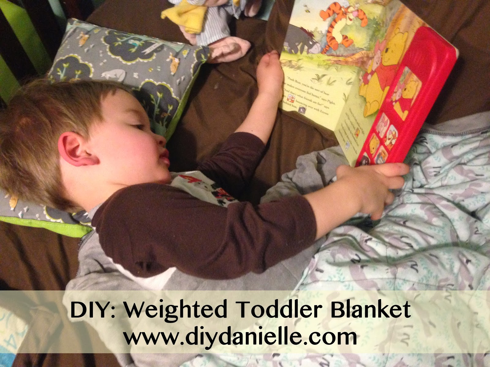 how I made a weighted blanket for my two year old