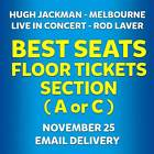 Buy Front Floor Tickets - Hugh Jackman Melbourne