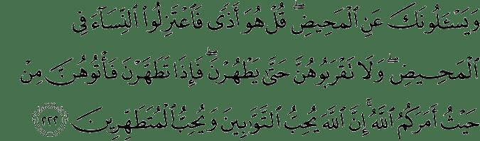 QS. Al-Baqarah 2:222
