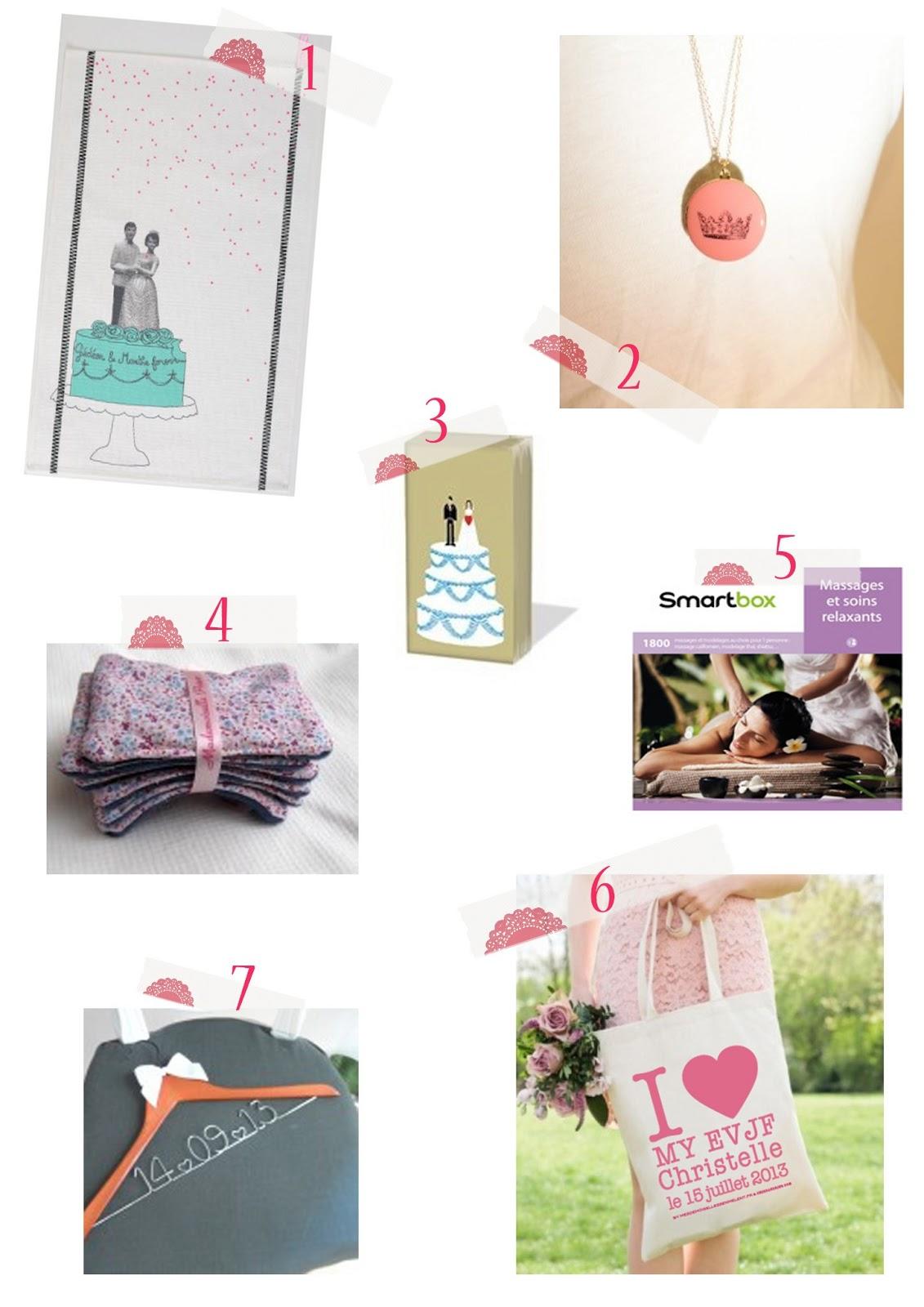 des petits cadeaux pour la future mari e sweet f licit. Black Bedroom Furniture Sets. Home Design Ideas