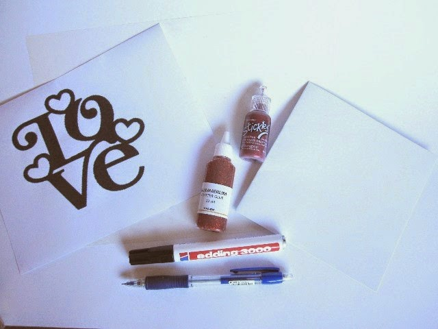 material proyecto scrapbook 6 tarjetas de San Valentín para tu LOVE mini-álbum