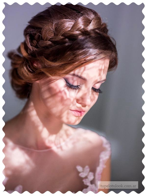 peinados 2015 para novias trenzas
