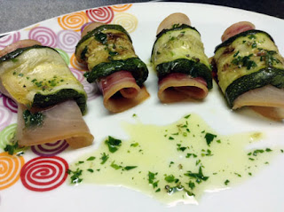antipasto zucchine e spada affumicato in 5 minuti