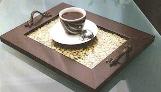 اصنعي صينيه للقهوة بنفسك