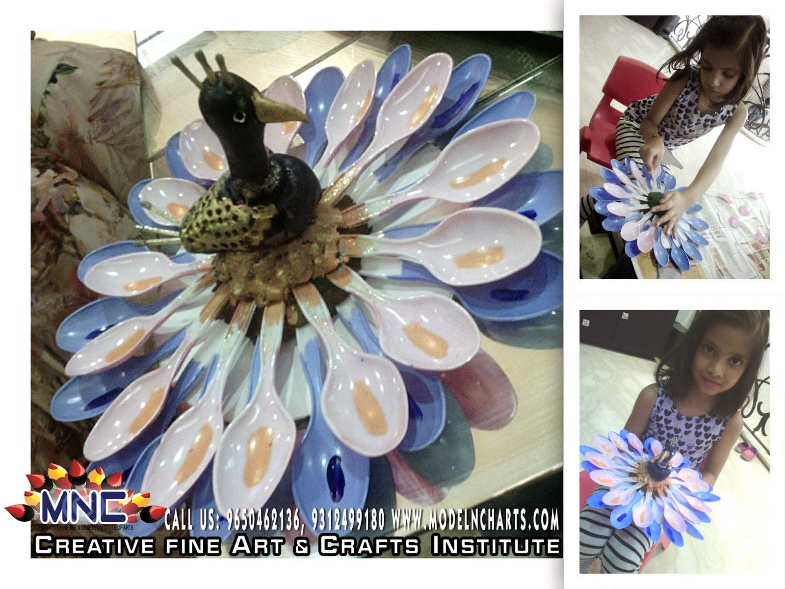 Creative fine art crafts institute 9650462136 home for Art and craft for kids from waste material