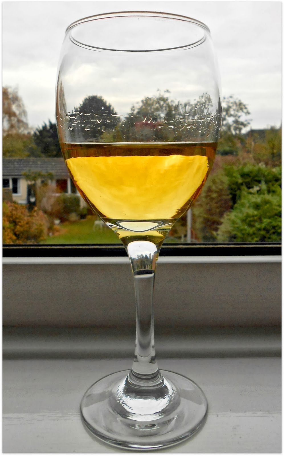 Glass of Sweet Muscat Organic White Wine