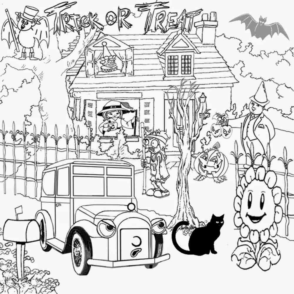 Cool Stuff To Color Zombie Ghost Coloring Book Pages Print Halloween Activities For Kids Learning