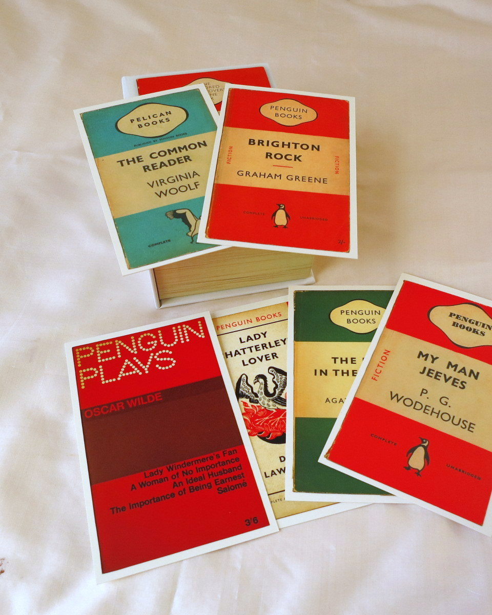 Penguin Book Cover Postcards From ~ Dharmakarmaarts penguin book cover postcards
