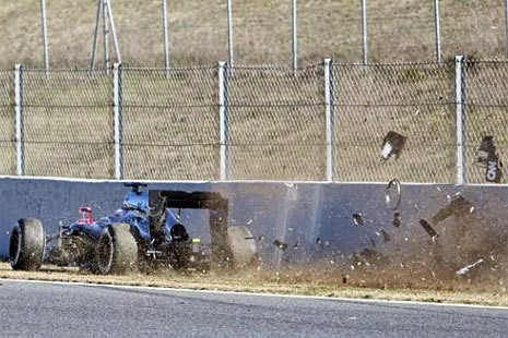 Accidente Alonso  McLaren
