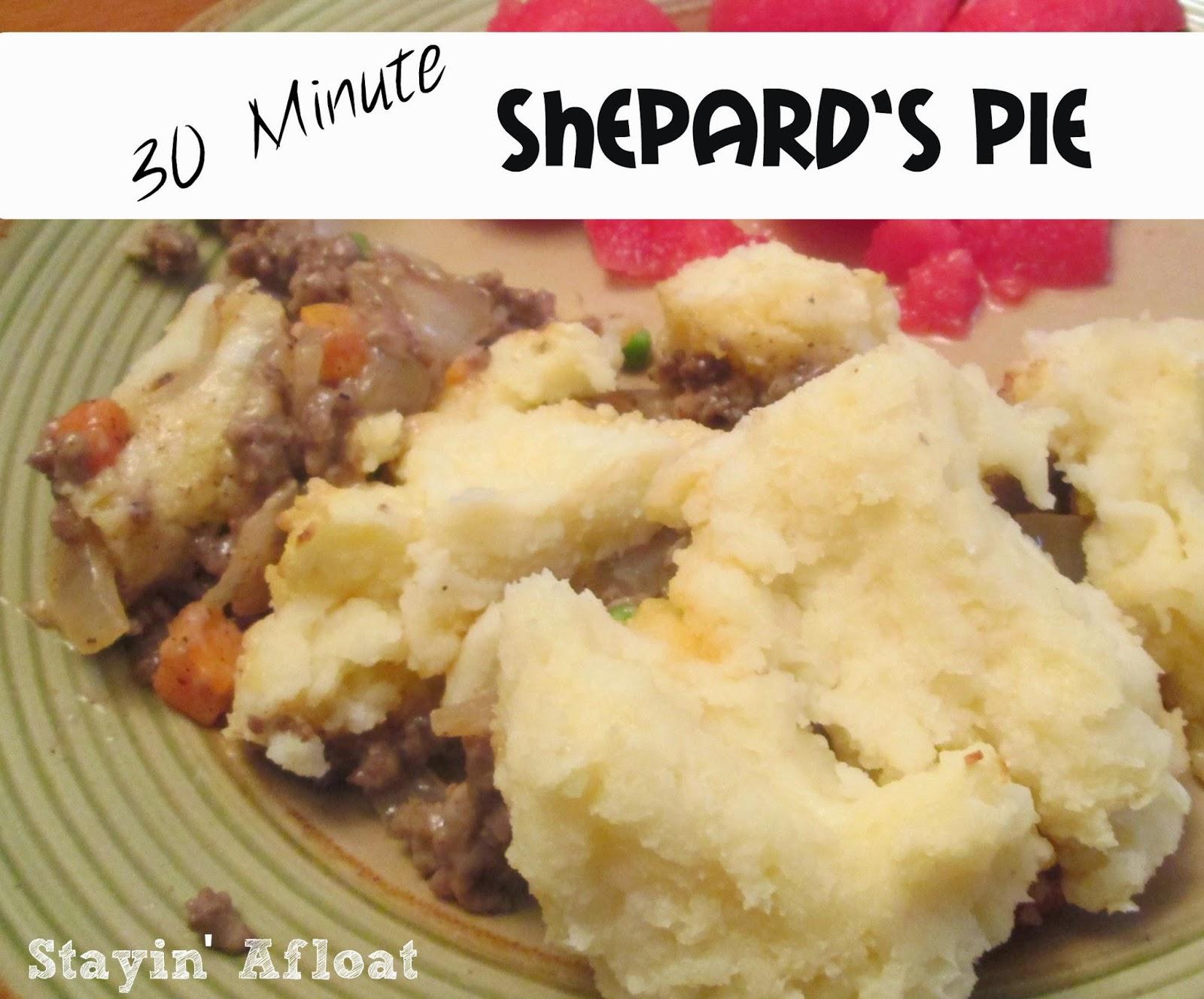 30 Minute Shepard's Pie