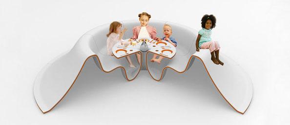 Slide eat table by studio klass interior design decoration for Decor xcetera