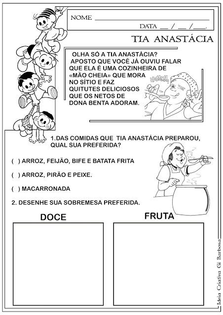 Atividade Dia do Livro Infantil - Tia Anastácia