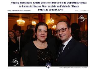 COLOMBIArtística invitée par le Président HOLLANDE à l'Elysée