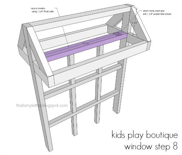 diy kids playstand boutique window