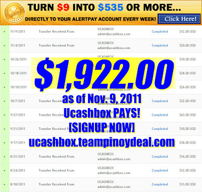 ucashbox philippines income payment proof work at home base part time online jobs