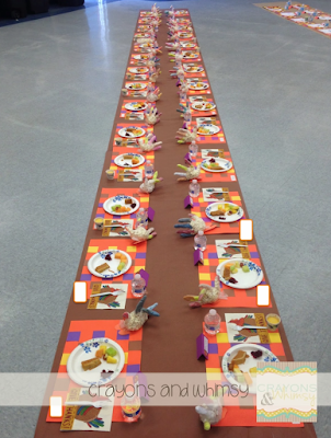 Thanksgiving kindergarten feast placemats Crayons and Whimsy