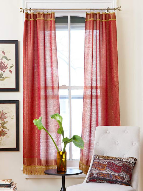 Red Curtains and Classic Ivory Environment