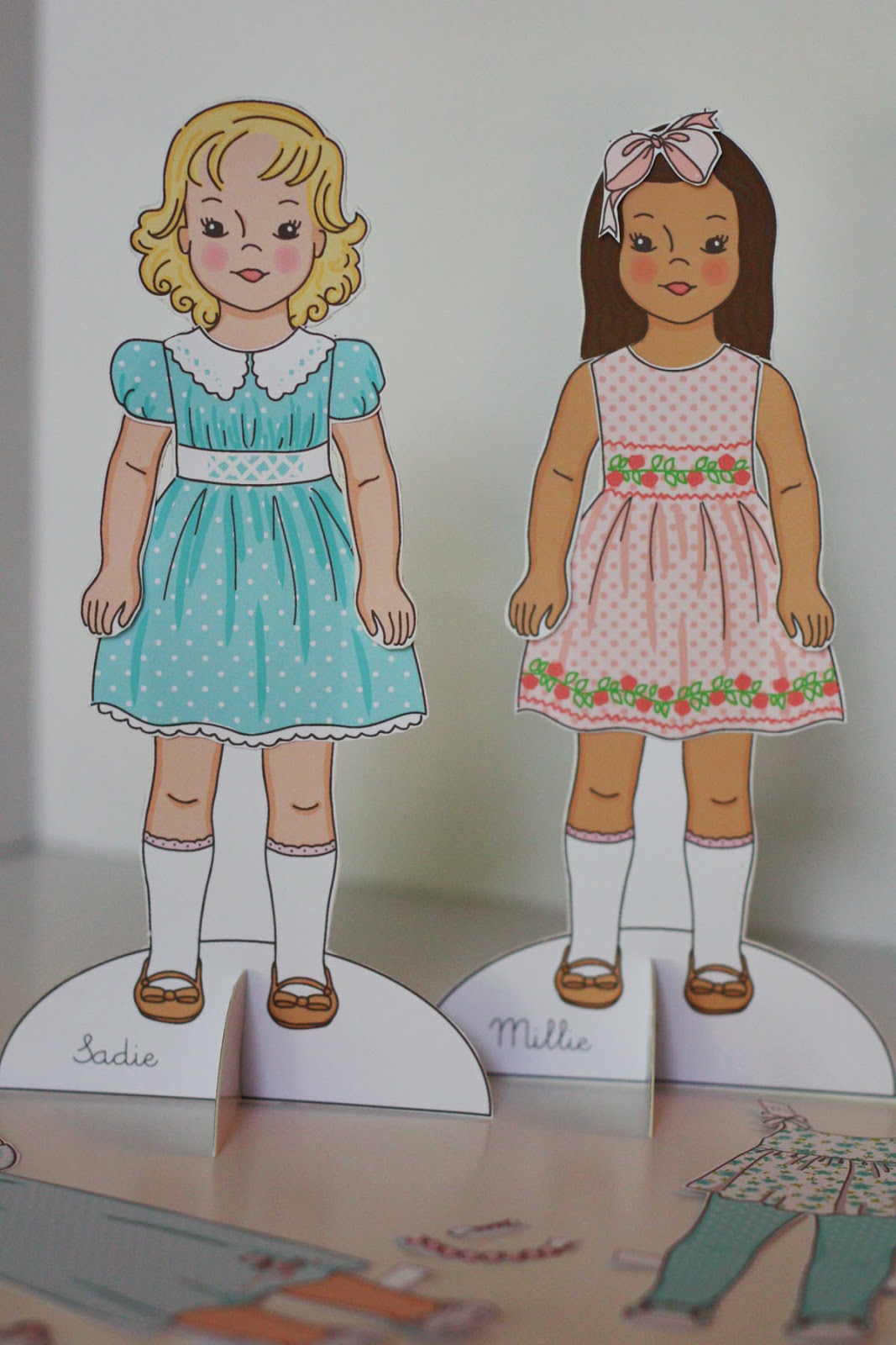 This is an image of Dynamic Free Printable Paper Dolls