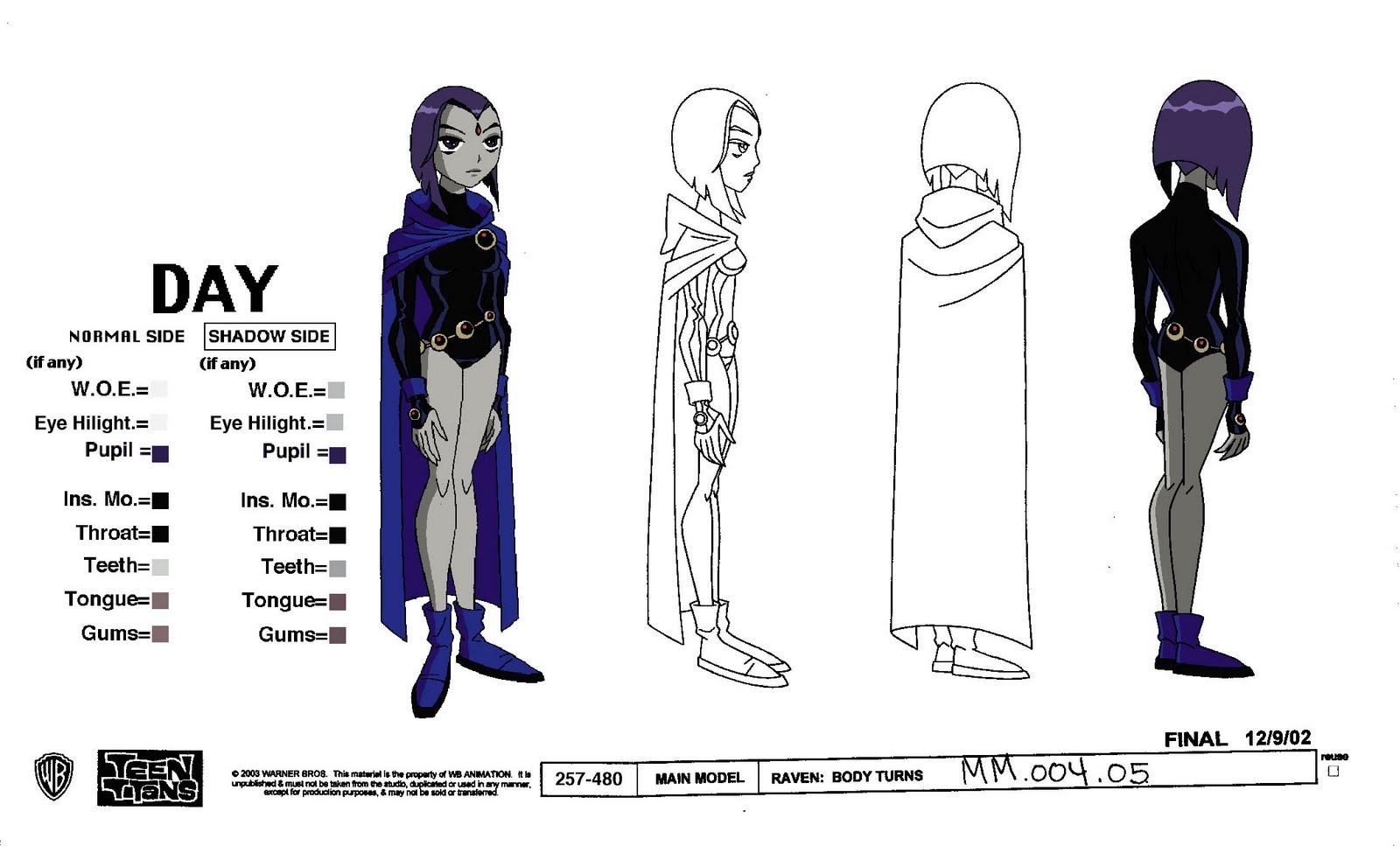 Cartoon Concept Design: Teen Titans Model Sheets