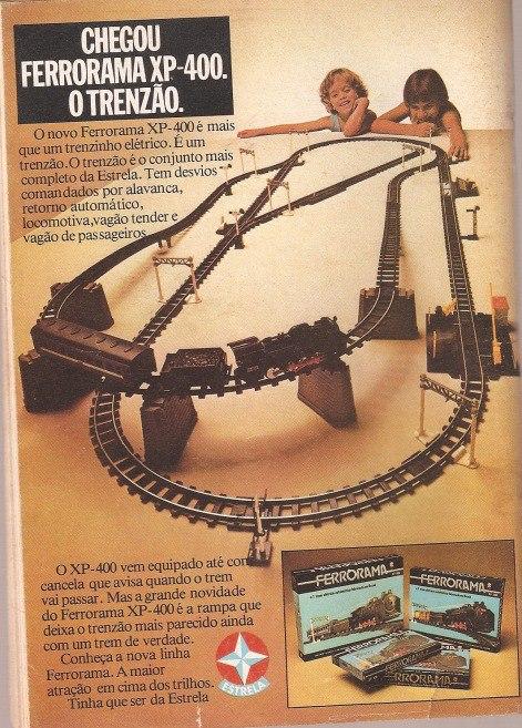 Propaganda do Ferrorama, da Estrela em 1980.