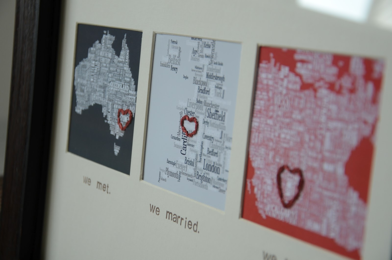 Fancy napkin diy the map love frame while we spent the extra to get a custom frame and mat made for this gift you can certainly diy this yourself for cheap with these simple steps solutioingenieria Choice Image
