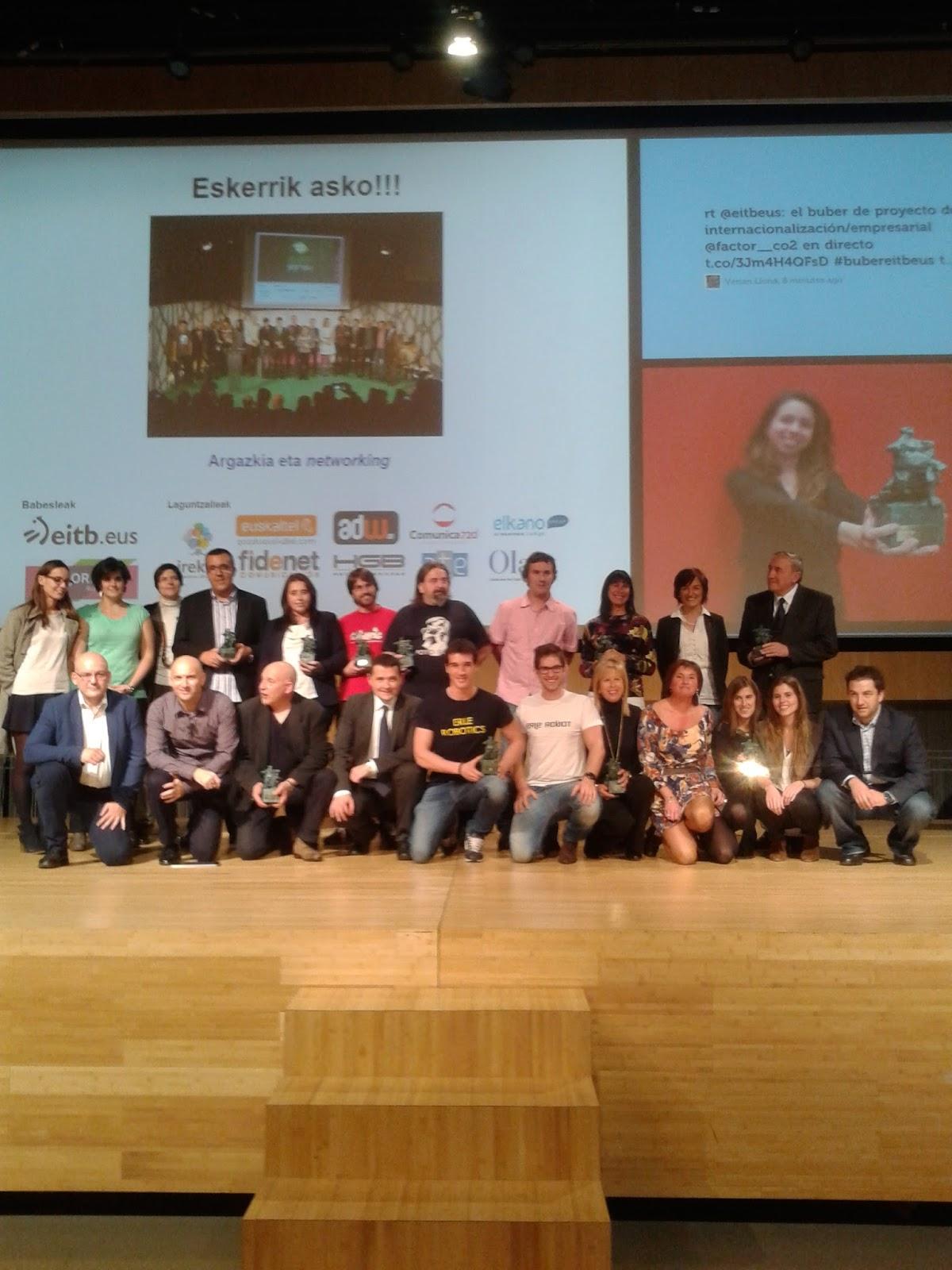 Imagen propia de los ganadores de los Premios Buber 2014