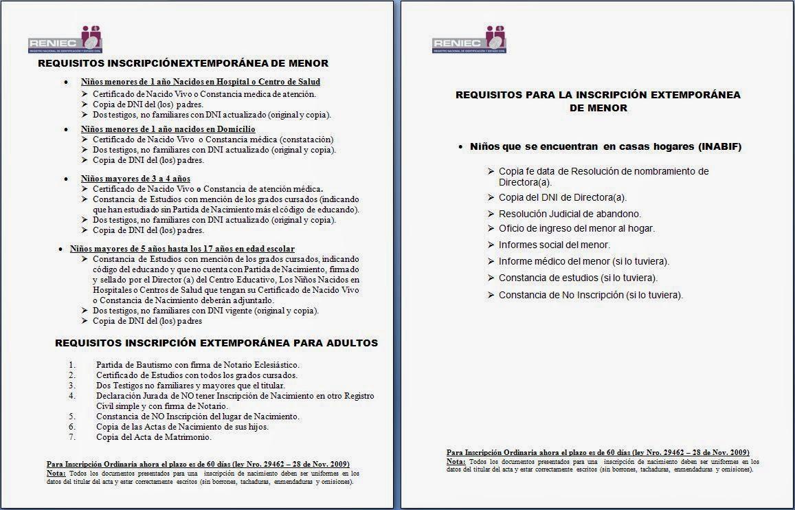 REQUISITOS PARA OBTENER PARTIDA DE NACIMIENTO | Municipalidad de ...