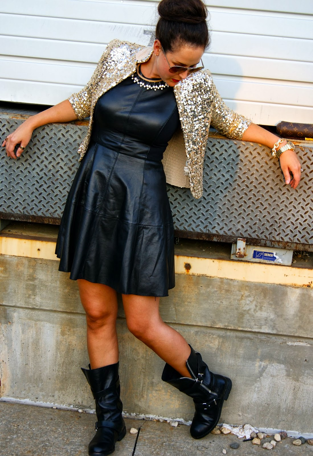 Leather dress by Halogen via Nordstrom