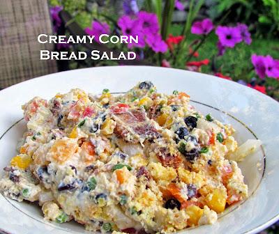 creamy corn bread salad