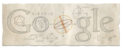Google doodle honors Leonhard Euler on his 306th birthday