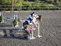 Kids learning horse riding at Amargeti Equestrian Club Paphos