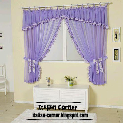 Italian small curtains, valance designs, colors for windows