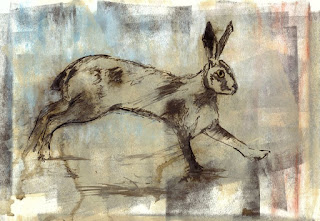 Mixed media hare