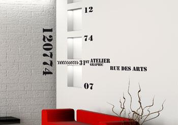 Stickers muraux des d co originales avec des autocollants le style industr - Stickers style industriel ...