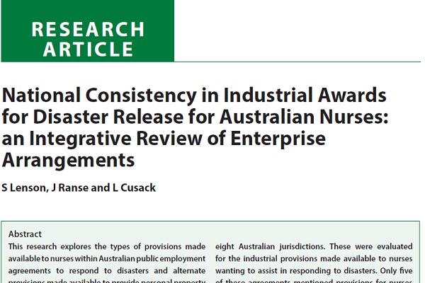 National consistency in industrial awards for disaster release for national consistency in industrial awards for disaster release for australian nurses an integrative review of enterprise agrrangements platinumwayz