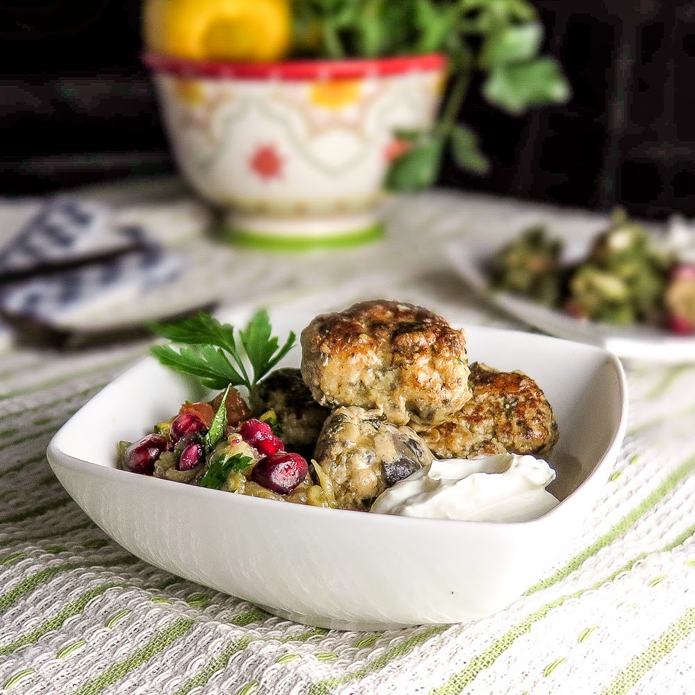 The Yum Yum Factor: Sous Vide Chicken Souvlaki Meatballs