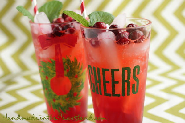 Cranberry Mint Holiday Punch
