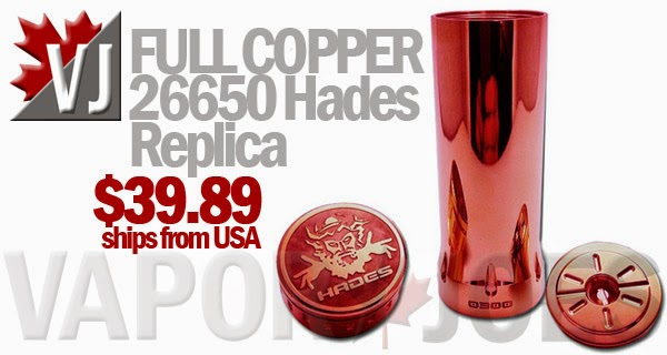 FULL COPPER 26650 Hades Replica Mechanical Mod
