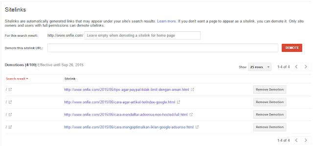 Cara Membuat Sitelinks, di Google Webmaster