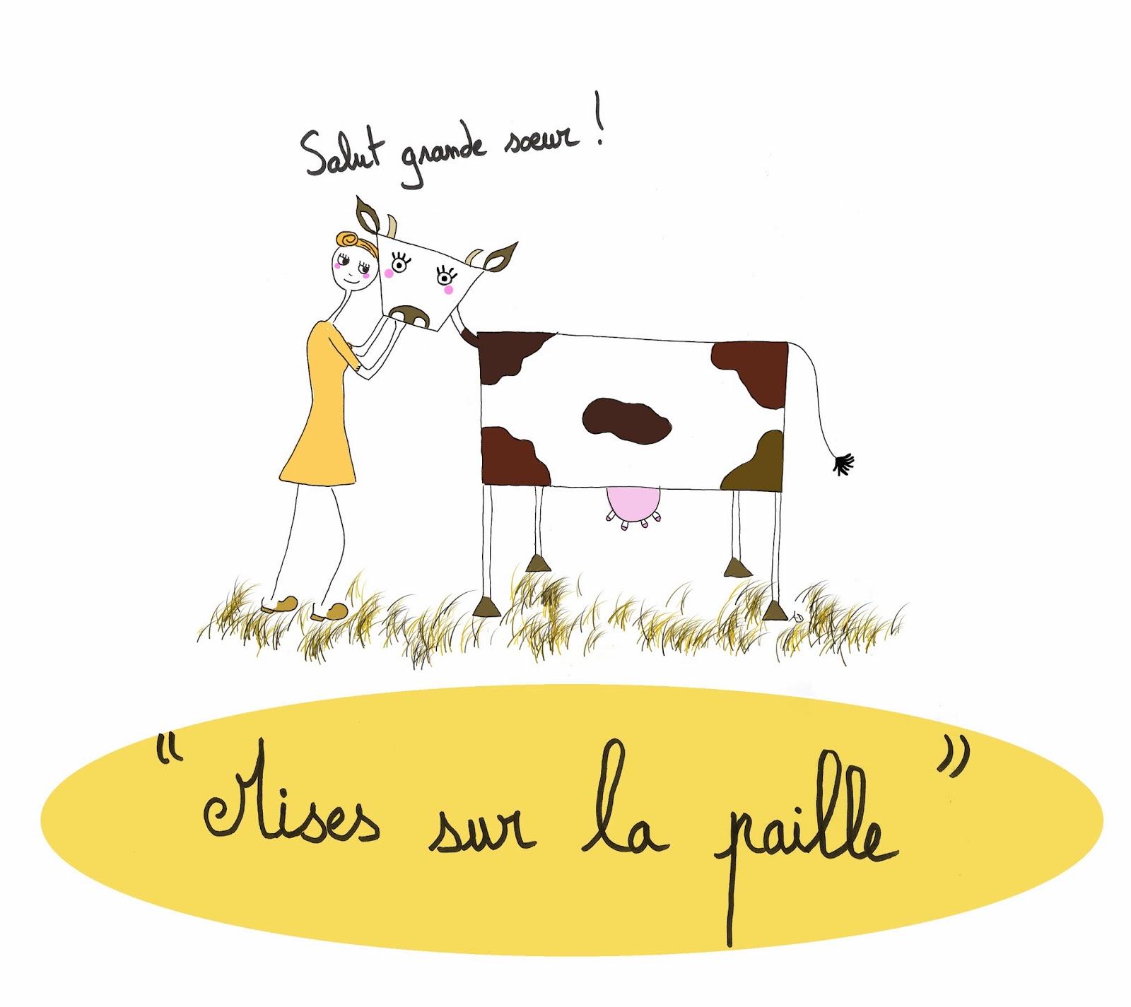 Salon de l'agriculture, la chômeuse et la vache