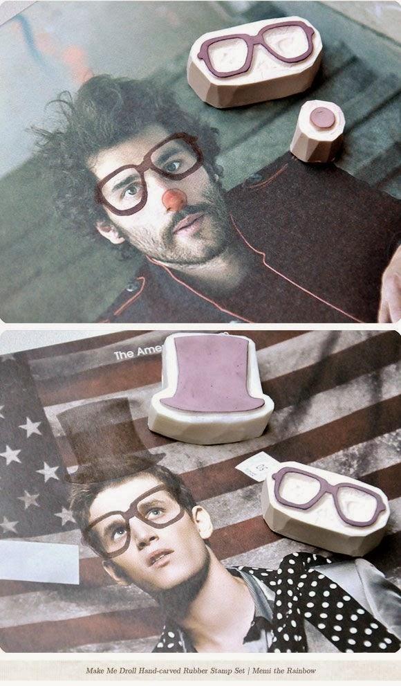 Fotos customizadas con sellos carvados