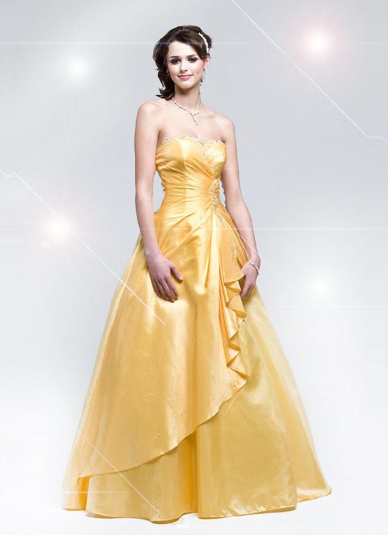 Fiesta de disfraces Foto-de-vestido-de-princesa-amarillo