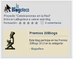 Premios 20 Blogs 2013