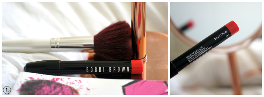bobbi brown cosmetics art stick blog review color sunset orange