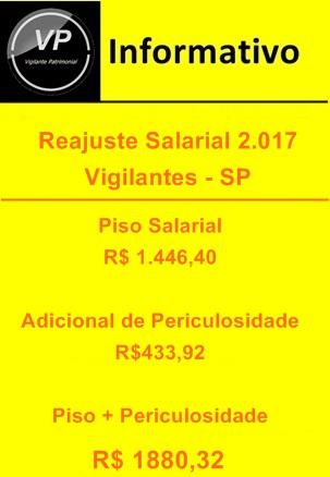 Reajuste Salarial Vigilantes SP 2017