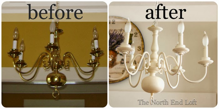 The north end loft spray painting a 1990s brass chandelier if you need a new light fixture on a budget keep an eye out for an old 1990s brass chandelier its an easy diy project you can spray paint it almost any aloadofball Image collections